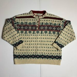 VTG L.L. Bean Nordic Sweater - Women's XL